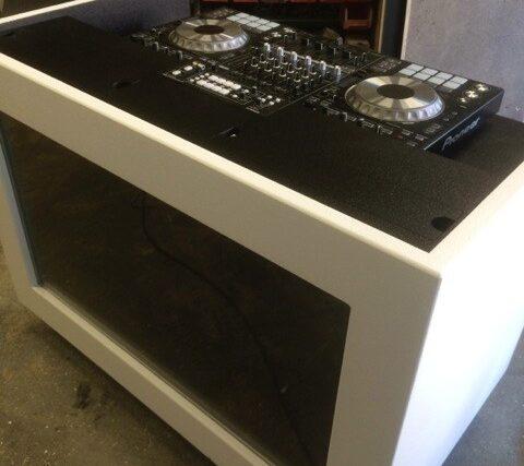 dj equipment case tafel